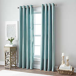 Botanical 108-Inch Grommet Top Window Curtain Panel in Blue