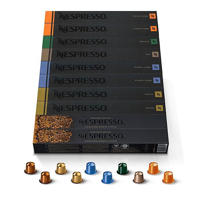 Alternate image 1 for Nespresso® OriginalLine Assorted Dark Roast Pack Coffee Capsules 100-Count