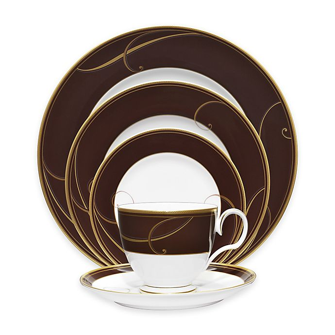 Alternate image 1 for Noritake® Golden Wave Chocolate 5-Piece Place Setting