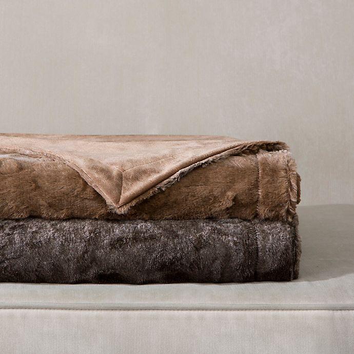Alternate image 1 for Madison Park Zuri Oversized Reversible Faux-Fur Throw
