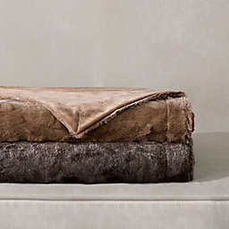Madison Park Zuri Oversized Reversible Faux-Fur Throw