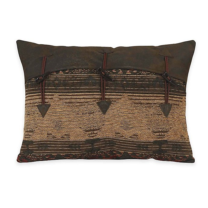 Alternate image 1 for HiEnd Accents Sierra Oblong Throw Pillow with Toggles