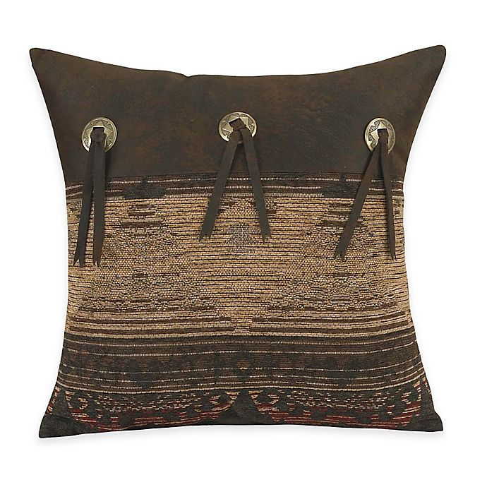 Alternate image 1 for HiEnd Accents Sierra Square Throw Pillow with Conchos