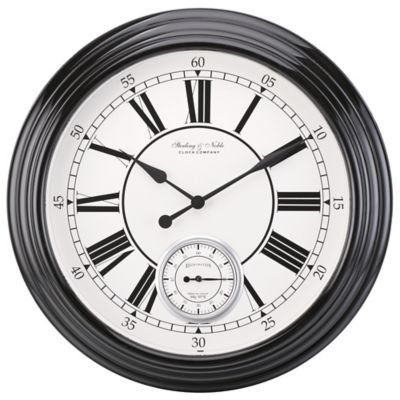 Sterling Amp Noble Classic Wall Clock In Black Bed Bath