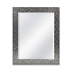 Medium Basic 26.5-Inch x 32.5-Inch Large Rectangular Mirror in Silver Tile