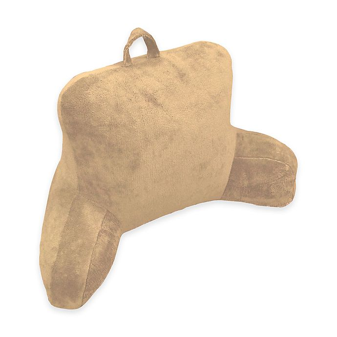 Alternate image 1 for Micro Mink Backrest Pillow in Brown