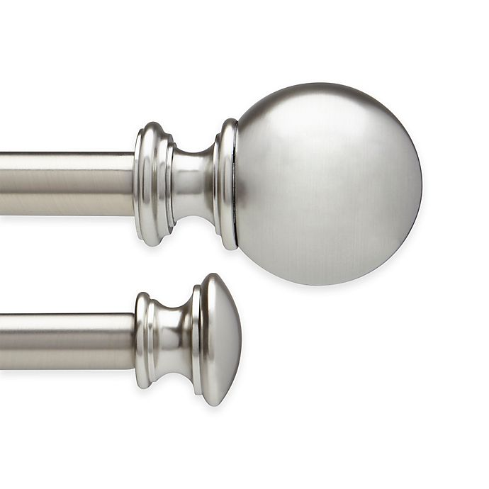 Alternate image 1 for Umbra® Stella Farrah Adjustable Double Curtain Rod Set in Brushed Nickel