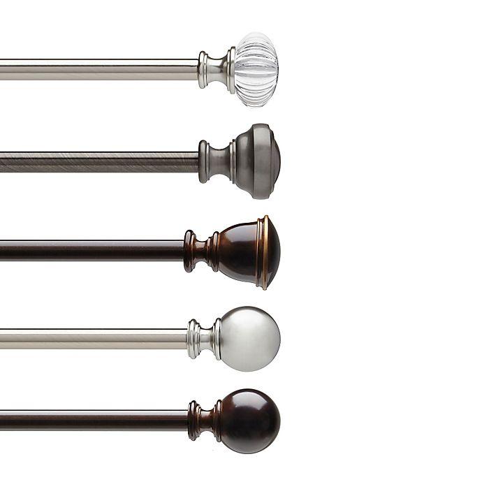 Alternate image 1 for Umbra® Stella Decorative Adjustable Double Rod Window Curtain Hardware