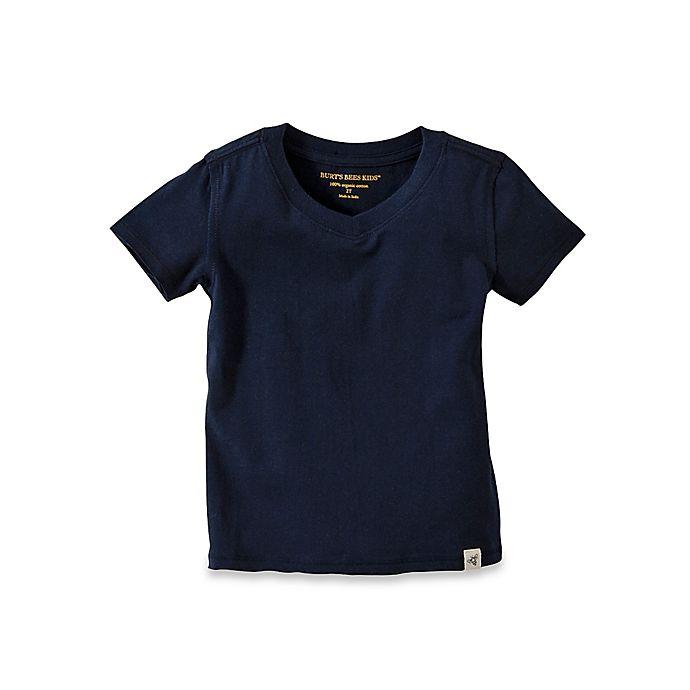 Alternate image 1 for Burt's Bees Baby® Reverse Seam V-Neck T-Shirt