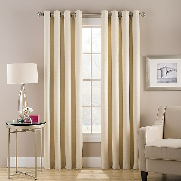Alternate image 1 for Cheshire 108-Inch Grommet Top Lined Window Curtain Panel in Ivory