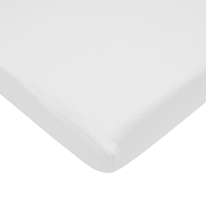 Alternate image 1 for TL Care® Cotton Jersey Fitted Playard Sheet in White
