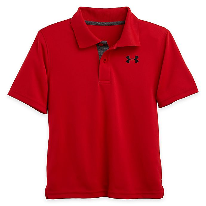 Alternate image 1 for Under Armour® Polo Shirt in Red