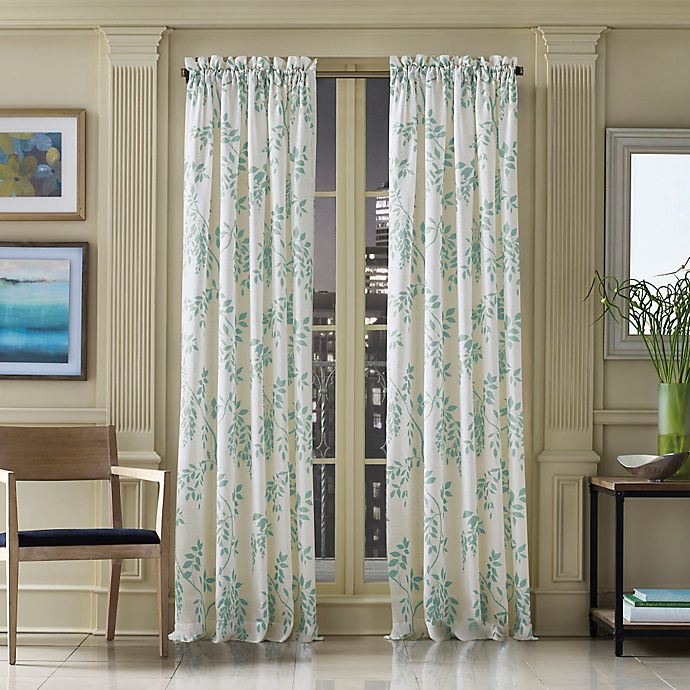 Alternate image 1 for J. Queen New York™ Winslow 84-Inch Botanical Print Window Curtain Panel in Blue