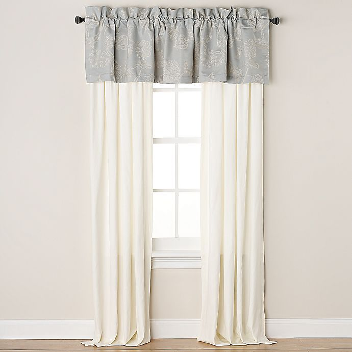 Alternate image 1 for Wamsutta® Chelsea Pole Top 84-Inch Window Panel Pair in Ivory