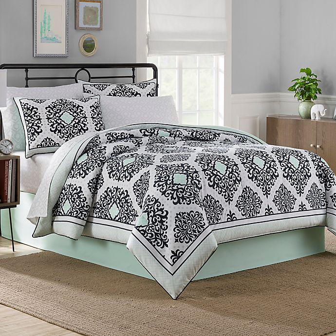 Alternate image 1 for Cooper Reversible 6-8 Piece Comforter Set in Mint