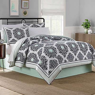 Cooper Reversible 6-8 Piece Comforter Set in Mint