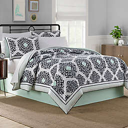 Cooper Reversible 6-8 Piece Comforter Set in Mint