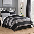 Bryce 8-Piece Reversible Full Comforter Set in Black/Grey