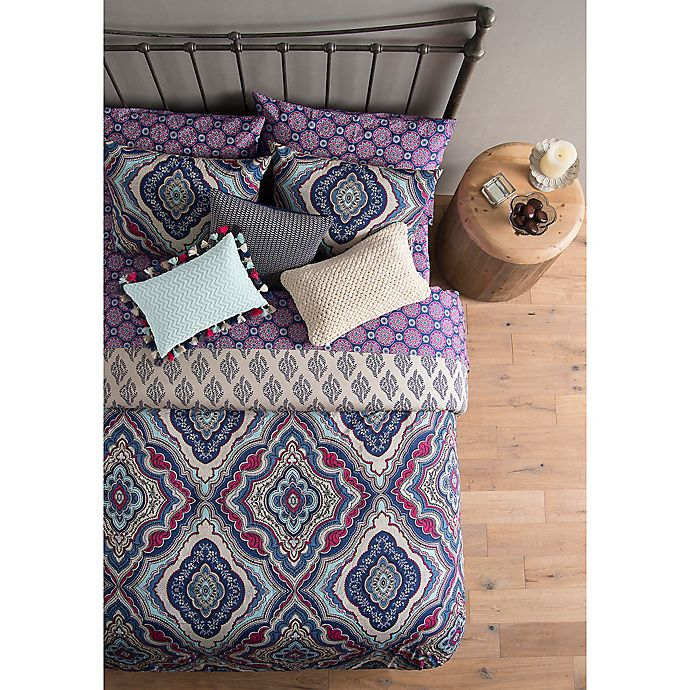 Alternate image 1 for Wander Home Avanna Reversible Duvet Cover Set in Purple
