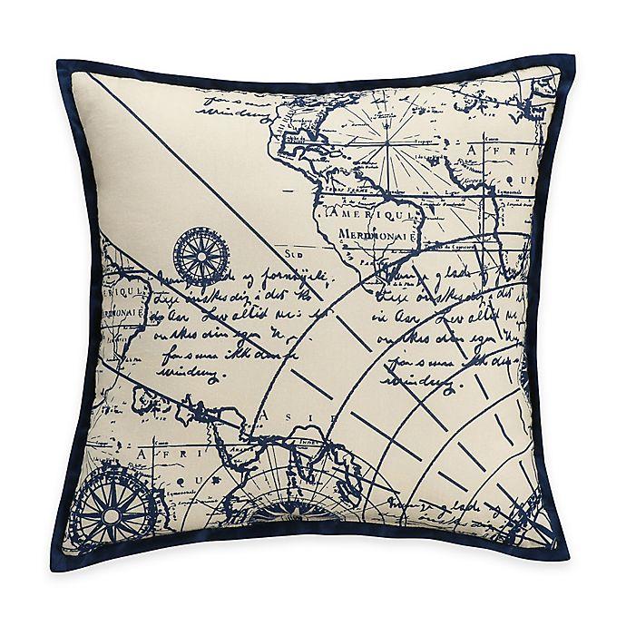 Bridge Street Chatham Nautical Map Throw Pillow In Blue