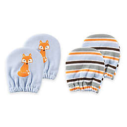 Baby Vision® Luvable Friends 2-Pack Size 0-6M Fox No Scratch Mittens