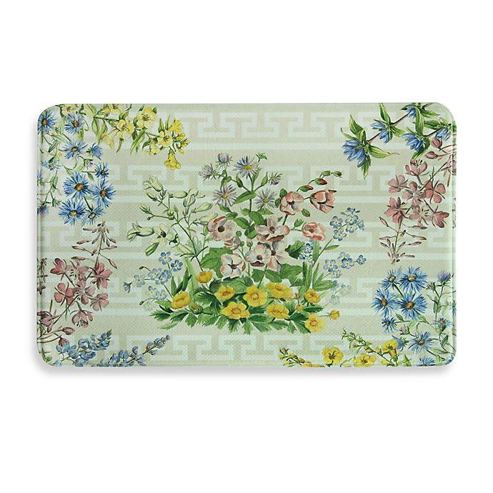 Memory Foam Kitchen Rugs: Bacova Summer Bouquet Memory Foam Kitchen Mat