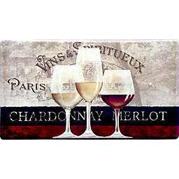 Home Dynamix Cook N Comfort 35.4-Inch x 19.6-Inch Parisian Wine Window Anti-Fatigue Kitchen Mat