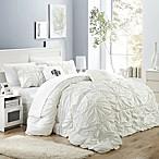 Chic Home Hilton 6-Piece Queen Comforter Set in White