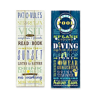 Outdoor Rules Canvas Wall Art Collection