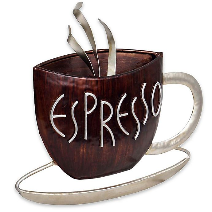 Awesome Espresso Metal Plaque Wall Art Bed Bath Beyond Download Free Architecture Designs Scobabritishbridgeorg