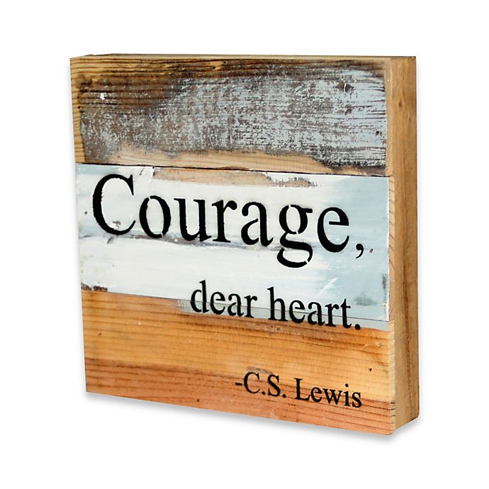 Alternate image 1 for Courage Reclaimed Wood Inspirational Wall Art