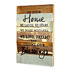 In Our Home  Inspirational Reclaimed Wood Wall Art