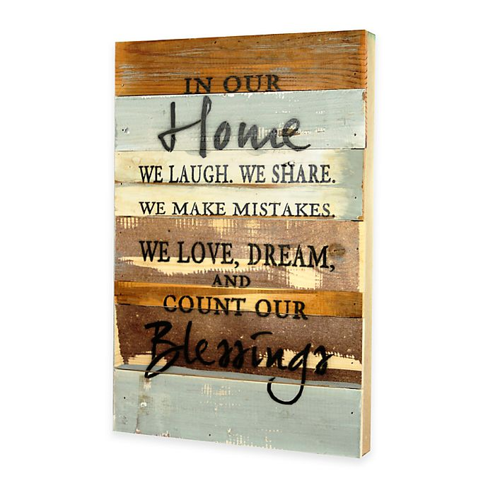 In Our Home Inspirational Reclaimed Wood Wall Art Bed Bath And
