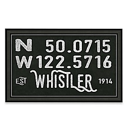 Whistler, Canada Coordinates Framed Giclee Print Wall Art