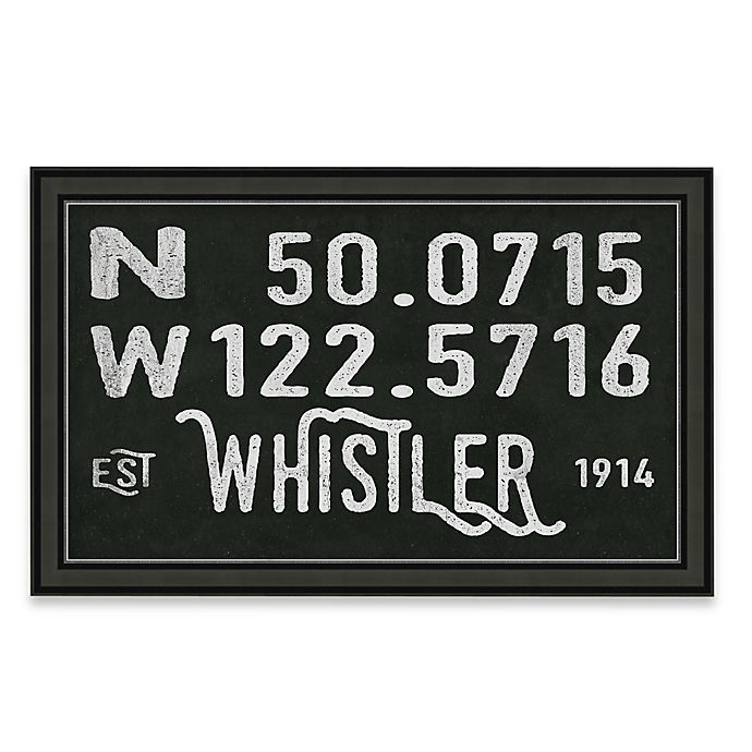Alternate image 1 for Whistler, Canada Coordinates Framed Giclee Print Wall Art