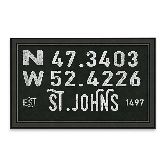 Alternate image 1 for St. Johns, Canada Coordinates Framed Giclee Print Wall Art