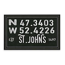 St. Johns, Canada Coordinates Framed Giclee Print Wall Art