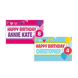 """Happy Birthday"" Activity Banner Placemat"