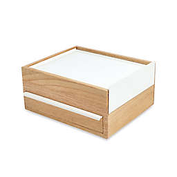 Umbra® Stowit Jewelry Box in White/Natural