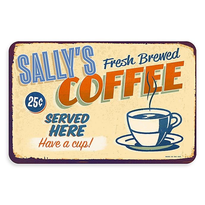 Alternate image 1 for The Softer Side by Weather Guard™ Retro Coffee Shop 18-Inch x 27-Inch Kitchen Mat