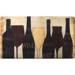 Home Dynamix Cook N Comfort 35.4-Inch x 19.6-Inch Wine Silhouette Anti-Fatigue Kitchen Mat