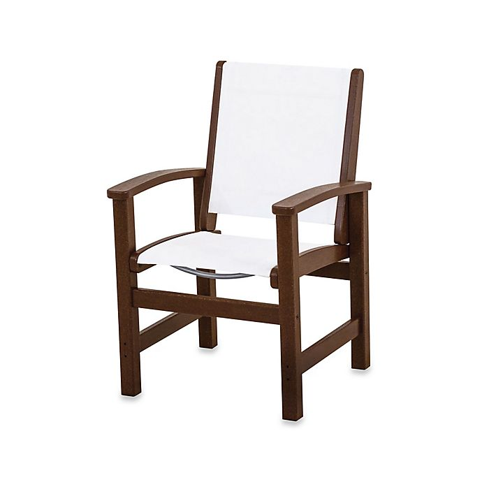 Buy Polywood 174 Coastal Dining Chair In Mahogany White From