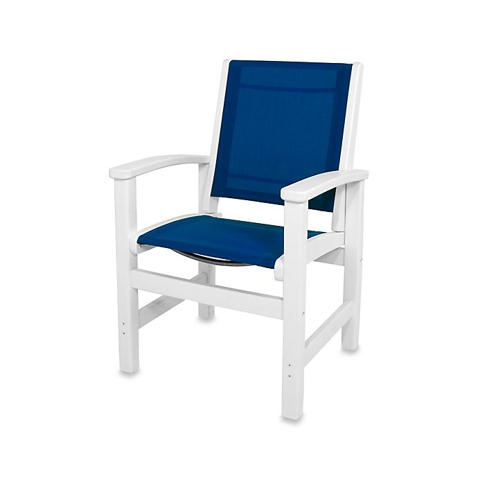 Buy Polywood 174 Coastal Dining Chair In White Blue From Bed