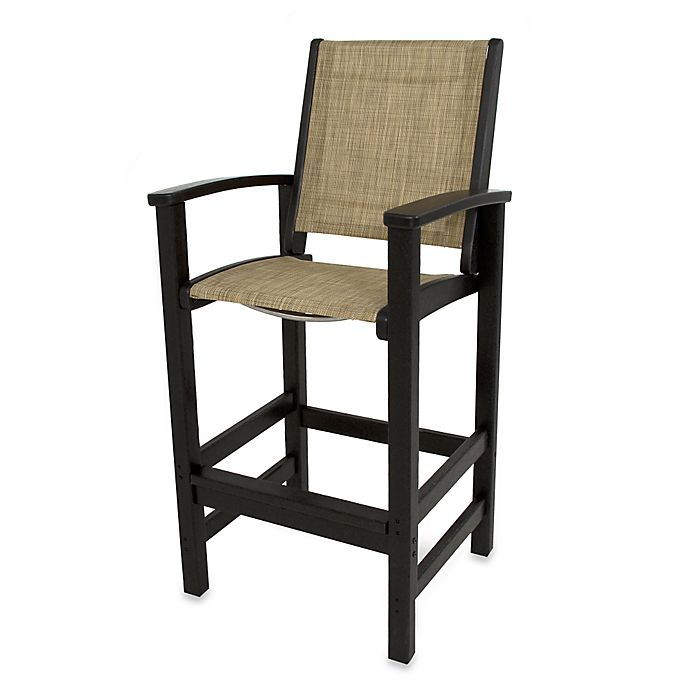 Buy Polywood 174 Coastal Bar Chair In Black Burgundy From Bed
