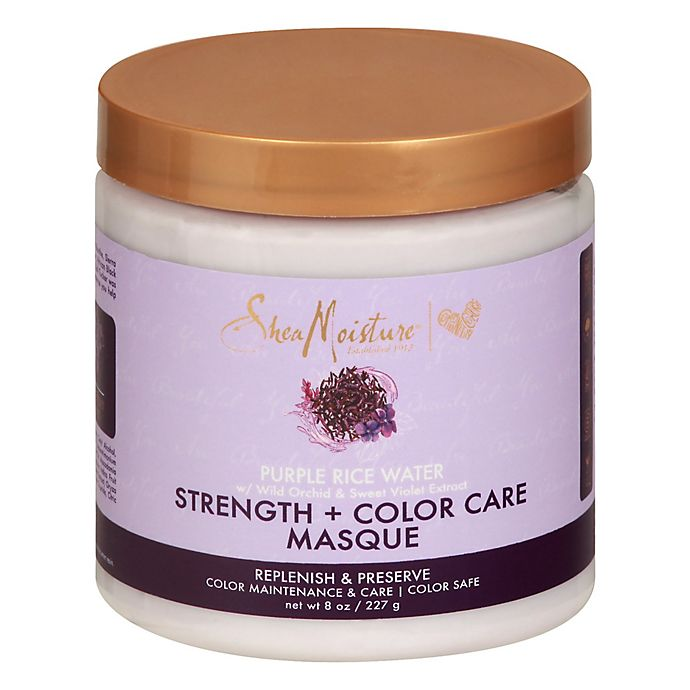 Alternate image 1 for SheaMoisture® 8 oz. Purple Rice Water Strength + Color Care Masque