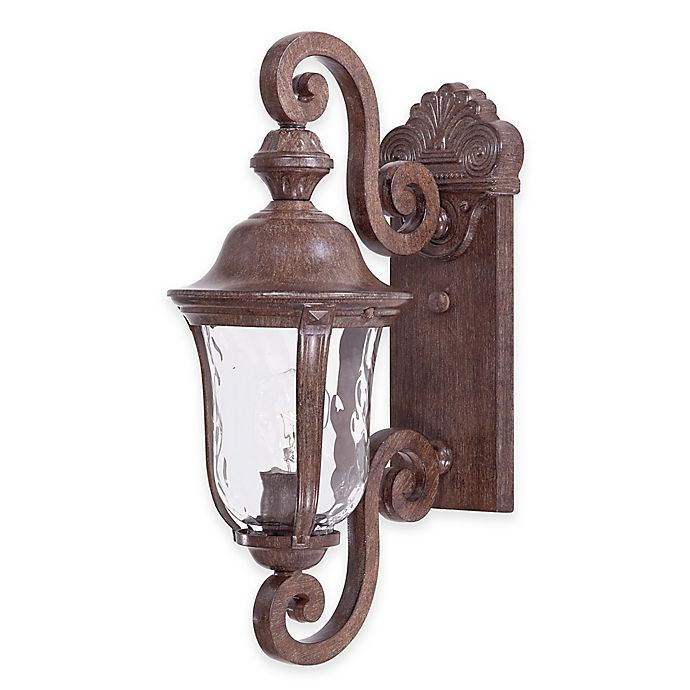 Alternate image 1 for Minka Lavery® Ardmore™ 20-Inch Wall-Mount Outdoor Lantern in Rust