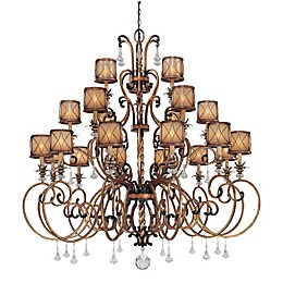 Minka Lavery® Aston Court™ 21-Light Chandelier in Bronze with Glass Shade