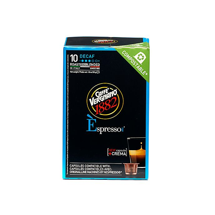 Alternate image 1 for Caffe Vergnano® Decaf Espresso Capsules 10-Count