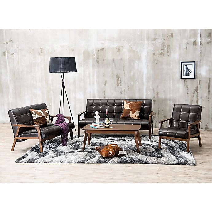 Alternate image 1 for Baxton Studio Mid-Century Masterpieces 3-Piece Sofa Set in Brown