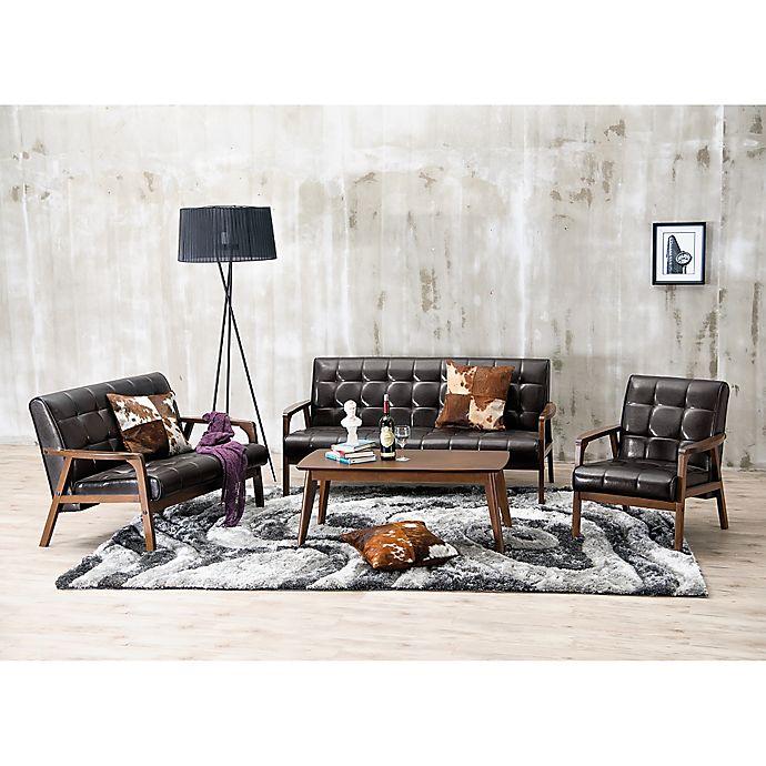 Alternate image 1 for Baxton Studio Mid-Century Masterpieces 3-Piece Sofa Set in Brown